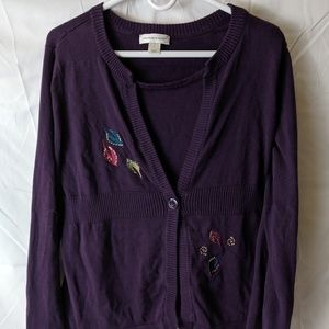 Christopher and Banks purple women's Cardigan